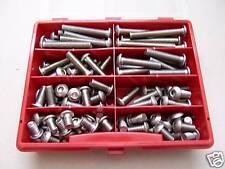 Sortiment Linsenkopfschrauben ISO 7380-1, V2A rostfrei, M8, 100-teilig