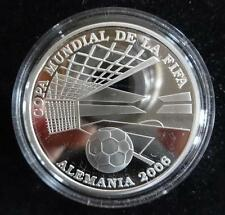 2004 SILVER PROOF PARAGUAY 1 GUARANI COIN + COA FOOTBALL WORLD CUP GERMANY