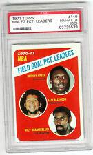 1971-72 Topps Basketball - NBA Field Goal Pct Leaders #140 - PSA 8 NM-MT