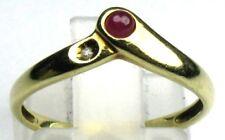 Rubin-Diamant-Ring massiv 14 Kt./585 er Gelb-Gold 50/15,9 mm