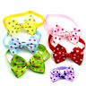 Dots Small Dogs Cats Bow Tie Adjustable Collars Bowties Pet Puppy Neck Grooming