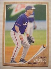 EDWARD SALCEDO 2011 Topps Heritage Minors baseball card ROME BRAVES ANGELS #167