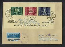 AUSTRIA UPU SOUVENIR SHEET ON COVER TO U.S. 1950
