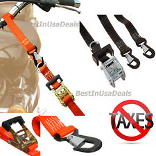 Straps 2Pc Tie Down Handle Ratchet Motorcycle Bike ATV Transport Harley Davidson