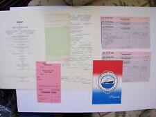 Ss United States, 2 Menus,2 Landing Card,2 Bar Check,2 Note Card,2 Sets Deck O/T
