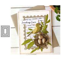 Stanzschablone Rahmen Rechteck Hochzeit Weihnachts Oster Geburtstag Karte Album