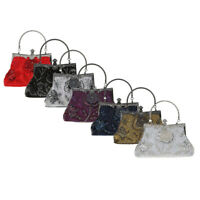 6446f8a85494 White Beaded Handbag Zipper Top Clutch Handle Beads Bridal Accessory ...
