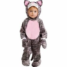 Childs Little Stripe Kitten Jumpsuit Fancy Dress Outfit  - 6 - 12 Months