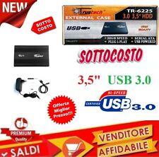 CASE Box per Hard Disk 3,5 pollici ESTERNO PER HARDISK SATA USB 3.0 HDD 5GPS 3.5