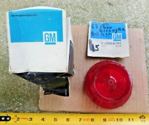 NOS TAIL LIGHT LENS FOR 1963 CHEVY BISCAYNE & BEL AIR CHEVROLET CARS 63 NEW OEM