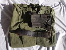 Australian army Jungle green pants x 2, black belt and gaiters.  1980.