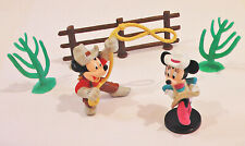 DISNEY MICKEY MOUSE MINNIE COWBOY COWGIRL RODEO CAKE TOPPER DECORATION 3 CACTUS