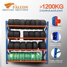 2.5mWx0.6mDx2mH,Tyres Storage Racks Stands Shelf Shelves Shelving Racking, S