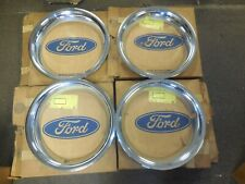 NOS 1967 Ford Mustng Fairlane GT Trim Rings Set of 4 C7ZZ-1210-A