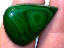 37.55 CT NATURAL PEAR SHAPED CABOCHON MALACHITE, UNHEATED/UNTREATED