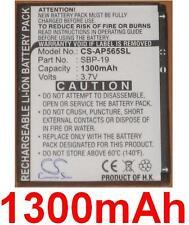 Batterie 1300mAh Pour ASUS P565, O2 XDA Zest type SBP-19