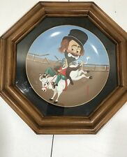 "Red Skelton ""Bronco Freddie� 1982 Limited Edition Collector Plate Frame Thank U"