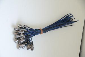 25x Edelstahl Mini-Spots LED Lichtpunkte Blau 12V IP68 Sternenhimmel Nr. 2