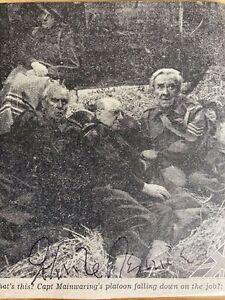 John Le Mesurier Dads Army Hancocks half Hour signed autograph POW#99