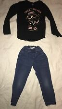 Girls OlD NAVY Outfit- Long Sleeve Shirt & Jeans- Size M(8)