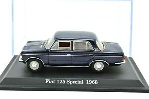 Fiat Scale 1:43 125 Car Models diecast modellcar Static vintage vehicles