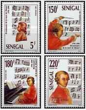 Timbres Musique Mozart Sénégal 943/6 ** lot 24441