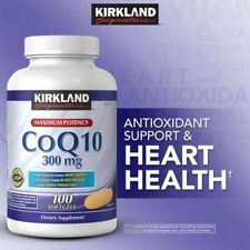 Kirkland Signature CoQ10 300 mg 100 Softgels Maximum Potency Dietary Supplement