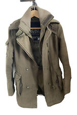 RARE Superdry Army Heavy Wool Blend Regiment Military Coat Green XS Womens