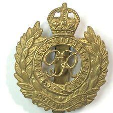 WW2 Royal Engineers gilt Cap Badge King George VI Cipher