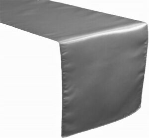 """New Creations Fabric & Foam Inc, 12"""" Wide Bridal Satin Table Runner"""