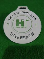 Hole in one club steve bedlow golf  Bag Tag metal 7cm round collectable