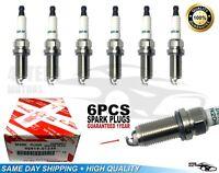 6 pc 90919-01249 Iridium Spark Plugs FK20HBR11 Fit For Lexus 3473 IS GS GS300