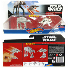 Hot Wheels Disney Star Wars AT-AT vs REBEL SNOWSPEEDER Starship 2 Pack New Toy