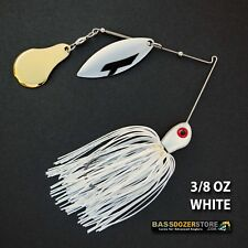 Bassdozer spinnerbaits CHOPPER 3/8 oz D. WHITE spinner bait bass fishing lures
