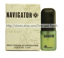 DANA* Spray Cologne NAVIGATOR Miniature Collectible FOR MEN (Boxed) .25 oz
