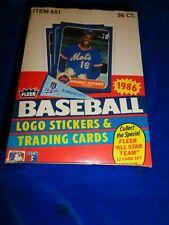 1986 Fleer Baseball Logo Stickers & Trading Cards 36 Wax Packs Item 65