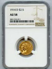 1914-d Gold $2.5 Indian Head NGC AU 58