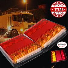 2x 8 LED Remorque Lumières Camion Feux Arrière Carvavn Bateau Voiture Carré 12V