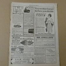 vintage advertise OATINE FACE CREAME / AMBROSE WILSON CORSETS , 1920s