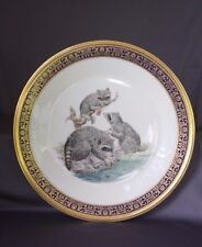 Lenox Plate w 1973 Three Raccoons Woodland Wildlife Annual Limit Edition