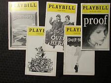 PLAYBILL Magazine LOT of 5 Proof / God's Favorite / Over Here / Candide