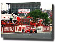 MICHAEL SCHUMACHER CANVAS ART PRINT POSTER PHOTO  F1 FERRARI CHAMPION 2000