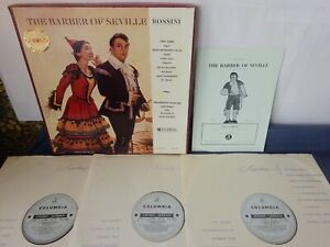 ED1 ROSSINI - THE BARBER OF SEVILLE 3LP BOX, Galliera, COLUMBIA SAX 2266 - 2268