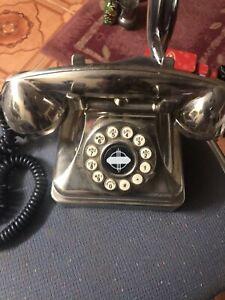 WILD & WOLF BRUSHED CHROME LOBBY PHONE 1930S DESIGN CLASSIC BNIB