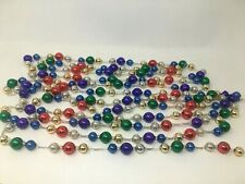 "2 90"" Long Strands of Vintage Large Mercury Glass Beads"
