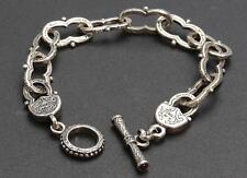 Lady's Sterling Silver Link Engraved Bracelet