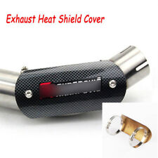 Motorcycle Heat Shield Exhaust Muffler Pipe Protector Cover Heel Guard W/ Clamps