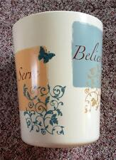 Butterfly Blessings- Cream Wastebasket by Mainstays - Plastic, Ms42-006-004-01