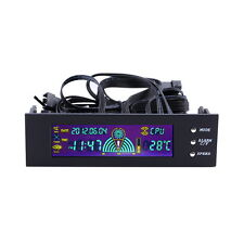 5.25 inch PC Fan Speed Controller Temperature Display LCD Front Panel W1