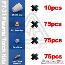 PT-31 CT312 LG-40 LGK40 Plasma Torch Nozzle Tips Electrode Sheild Cup PK235